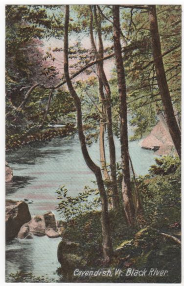Cavendish VT Vermont Black River Vintage Postcard
