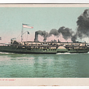 DPC Steamer City of St. Ignace Vintage Postcard