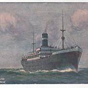 Donaldson Line T S S Saturnia Vintage Postcard