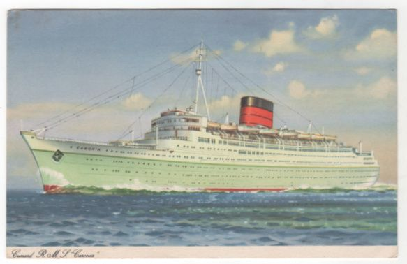 Cunard R M S Caronia Vintage Postcard