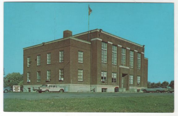 Lewis County Courthouse Hohenwald TN Tennessee vintage Postcard