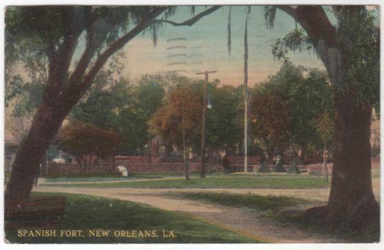 Spanish Fort New Orleans LA Louisiana Vintage Postcard