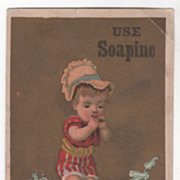 Soapine Kendall Mfg Co Providence R I Est. 1827 Victorian Trade Card A