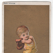 Possibly Soapine Monthly Series February Victorian Trade Card