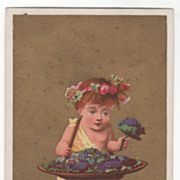 Possibly Soapine Monthly Series May Victorian Trade Card