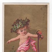 Possibly Soapine Monthly Series October Victorian Trade Card