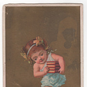 Possibly Soapine Monthly Series August Victorian Trade Card