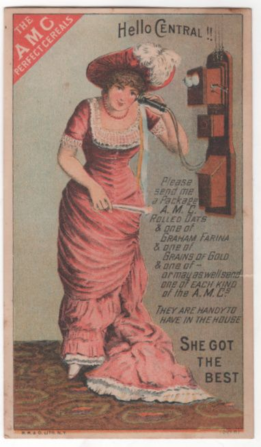 AMC Flour and Cereals Charles Keith Greenfield MA Victorian Trade Card