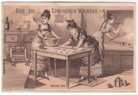 Conqueror Wringer John A Powers Milford NH New Hampshire Victorian Trade Card C