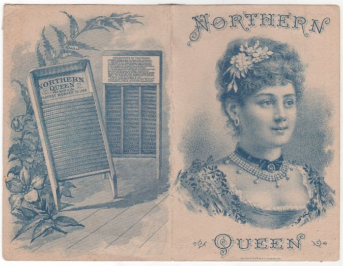 Northern Queen Washboard Fastest Worker in Use Victorian Trade Brochure