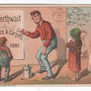 Cowperthwait Furniture & Carpets 153 155 & 157 Chatham NYC Victorian Trade Card