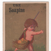 Soapine Kendall Mfg Co Providence R I Est. 1827 Victorian Trade Card D