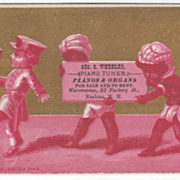 Geo S Wheeler Pianos & Organs 33 Factory St Nashua NH Victorian Trade Card