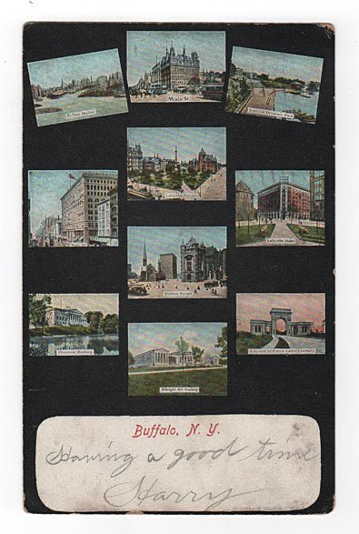 Ten Scenes of Buffalo New York Postcard
