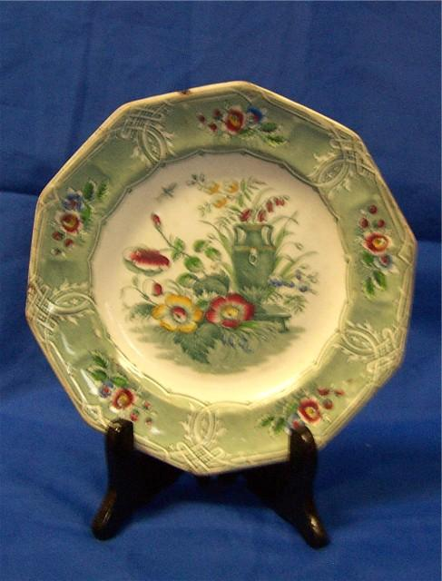 Multicolored Ironstone Plate Indian pattern by Livesley Powell & Co.