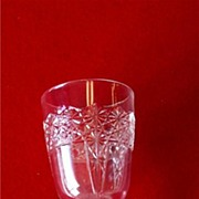Early American Pressed Glass Queen Goblet