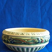 Roseville Corinthian Pottery Bowl and Frog