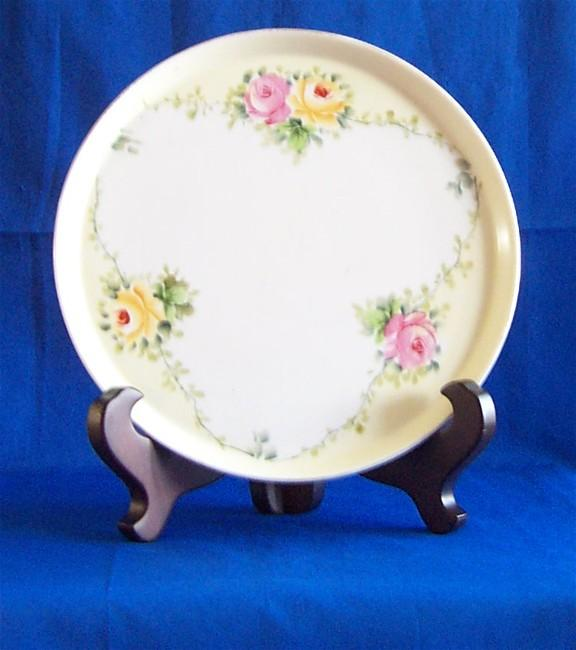 Nippon Dresser Tray with Floral Pattern