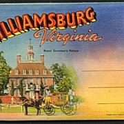 Souvenir Folder of Williamsburg Virginia