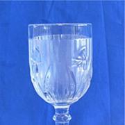 Jeannette Iris & Herringbone Goblet 5 1/2 inch 4 ounce