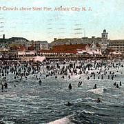 View of Crowds above Steel Pier, Atlantic City, NJ