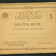Souvenir Folder Tuck's Letter Card of Heaton Moor