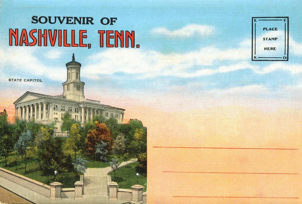 Souvenir Folder of Nashville Tennessee