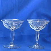 Two Heisey Glass No. 359 High Footed Sherbets