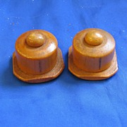 Wooden Cake Covers Salt and Pepper Shakers