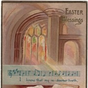 Easter Blessings Church Interior Postcard John Winsch