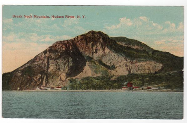 Break Neck Mountain Hudson River NY New York Postcard