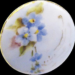 SALE Antique Victorian Ladies Porcelain Shirt / Collar Button 1840 to 1890