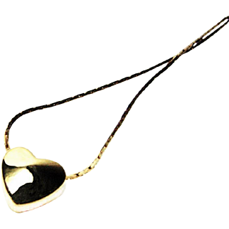SALE Polished Golden Floating Heart Necklace by Napier