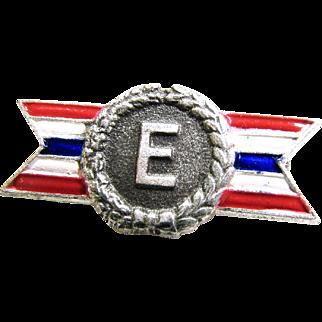 "WWII Army Navy E Award Lapel Pin 7/8"" size"