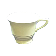 Satin Crème Yellow GMcB Franciscan Coffee Footed Cup Pottery