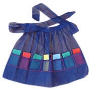 """Chiffon Navy Blue """"I Love Lucy"""" Aprons with Cocktail Napkins"""