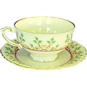 Syracuse Pendleton Federal Shaped Cup and Saucer