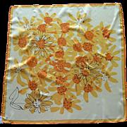 Vera Bright Yellow and Orange Sunflower Scarf