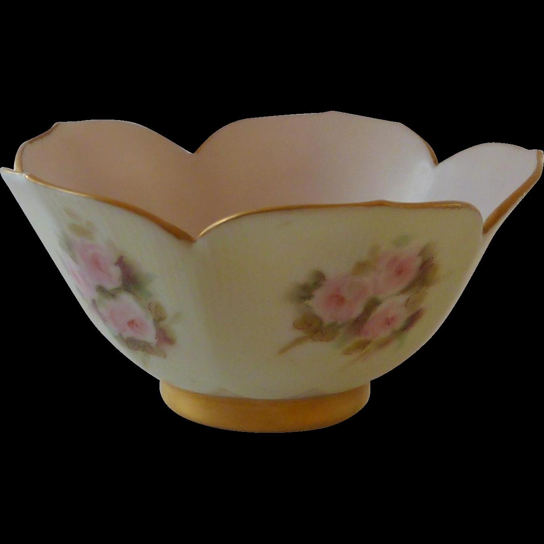 Hand Painted China Lotus Bowl