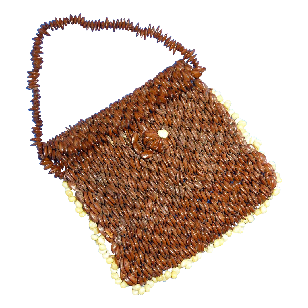 Bean and Shell Small Coin Purse 1950's