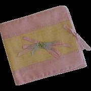 Satin Cloth Handkerchief Holder 1920's