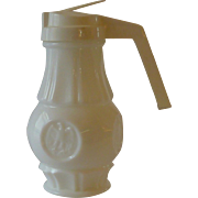 Early American Eagle Milk Glass Syrup Pitcher