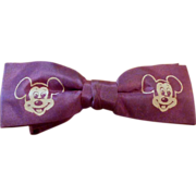 Vintage Child's  1950's Purple Mickey Mouse Bowtie