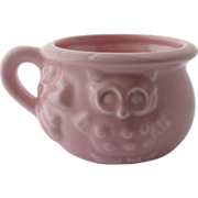 Haeger Pink Pottery Planter Owl Bowl