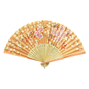 Orange Souvenir of Big Spring, Texas Hand Fan