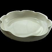 Crème White California Art Pottery Shallow Bowl S-50