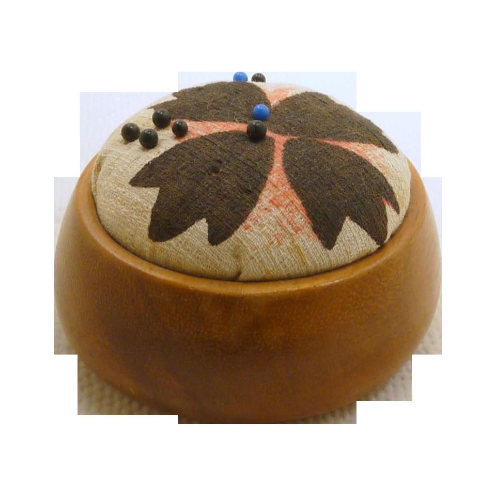 Round Smooth Wood Pin Cushion