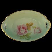 Beautiful Bavarian Pink Roses Salt Bowl Dish