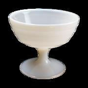 Hazel Atlas White Milk Glass Moderntone Stemmed  Sherbet
