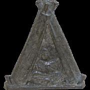 Lead Tepee Tent Toy Figure